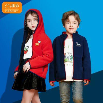 巴拉巴拉旗下棉致童装男女童秋冬新款上衣加绒连帽保暖可爱外套