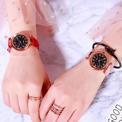 73576/少女手表花盘数字盘皮带时尚潮流新款2021个性学生可爱清新网红