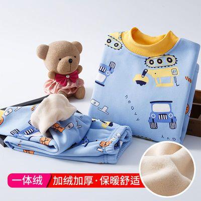 儿童保暖内衣套装宝宝秋衣秋裤加绒加厚套装冬季男童女童小童睡衣