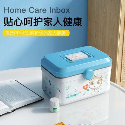 74176/家庭装双层药箱大容量手提分格分层儿童成人医药箱药品收纳箱医疗