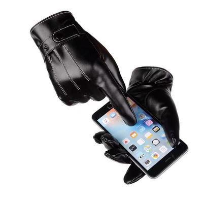 男士女士触屏皮手套防风防水保暖加绒韩版骑车摩托车手套