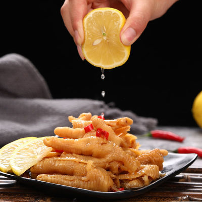 75887/酸辣无骨鸡爪柠檬网红去骨泡椒凤爪脱骨袋装即食盒装熟食小吃零食