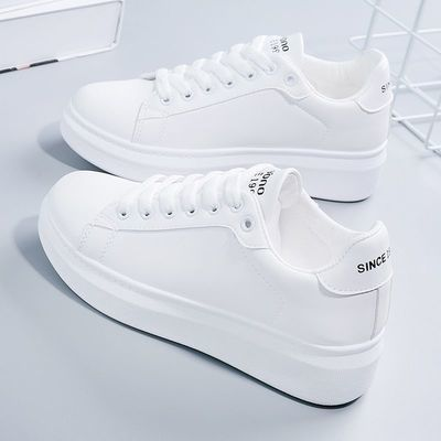 78273/小白鞋女2021秋季新款百搭厚底鞋子女学生韩版ins原宿风运动板鞋