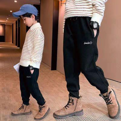 男童裤子秋季2021年新款儿童春秋冬加绒卫裤潮童装儿童休闲运动裤
