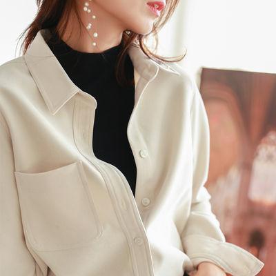 75111/衬衫女2021秋冬新款磨毛灯芯绒宽松显瘦外搭长袖外套叠穿大码衬衣