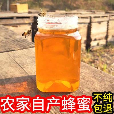 蜂蜜天然正品純野生深山百花蜜 農家自產自銷 自然成熟封蓋土蜂蜜