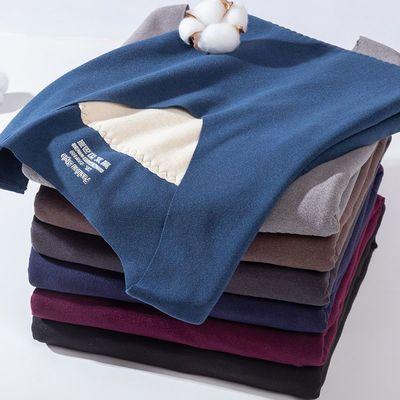76149/双面德绒无痕保暖背心男士加绒加厚大码发热贴身内穿打底衫秋冬季