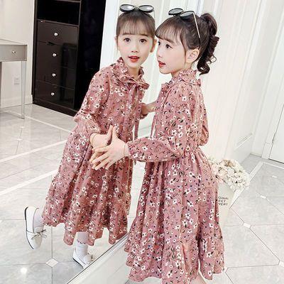 2021秋冬童装女童连衣裙儿童装洋气裙小女孩公主裙秋装裙子潮