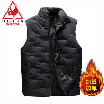 【报喜公鸡】秋冬季马甲男士加厚外套新款韩版青年立领马甲男装