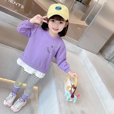 76033/女童秋装2021新款洋气女宝宝运动套儿童休闲卫衣小翅膀春秋两件套