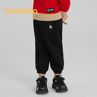 巴拉巴拉男童女童加绒裤子2021冬季新款儿童小童中大童休闲运动裤