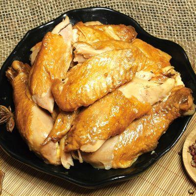 76327/德州五香扒鸡烧鸡麻油鸡山东特产中秋送礼卤味熟食鸡肉零食速食