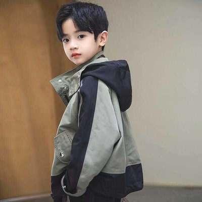 童鲨男童外套2021新款春秋款洋气中大童帅气男孩春装儿童韩版潮