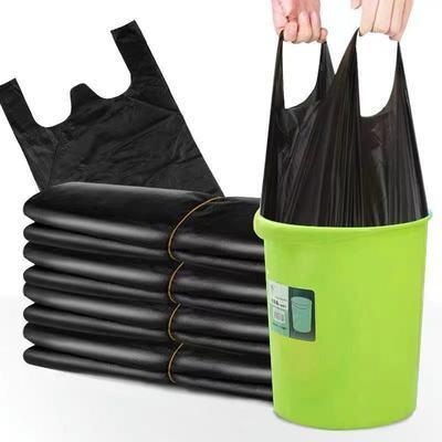 黑色手提塑料袋迷你小号桌上垃圾袋一次性方便袋打包袋黑色收纳袋