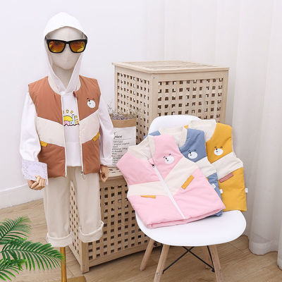 75994/反季特卖儿童棉马甲男童女童夹棉背心坎肩内外穿保暖外穿马夹