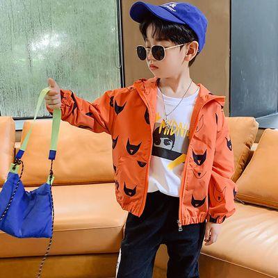 76572/男童冲锋风衣外套2021新款韩版儿童春装春秋童装宝宝小童洋气婴儿