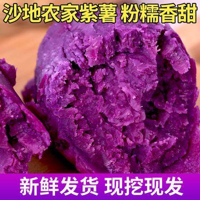 紫薯新鲜番薯当季地瓜薄皮农家蜜薯香红沙地薯糖心山芋整箱包邮