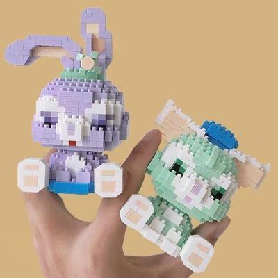 75942/钻石小颗粒兼容楽高猫老鼠积木女孩卡通迪士尼拼图高难度益智玩具