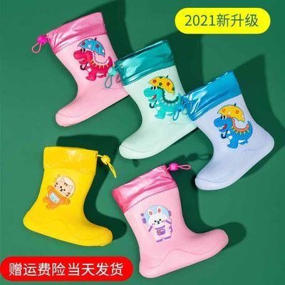 90974/儿童雨鞋男童宝宝雨靴轻便可爱女童幼儿小童水靴防滑踩水短筒胶鞋