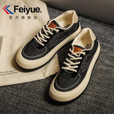 91606/Feiyue/飞跃帆布鞋女2021秋季新款牛仔面包鞋百搭厚底馒头休闲鞋