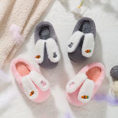 儿童棉拖鞋冬季男女童毛拖鞋可爱卡通软底室内防滑保暖宝宝棉拖鞋
