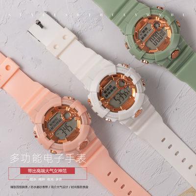 78949/韩版儿童电子表男女学生防水夜光多功能计时休闲数字式运动手表