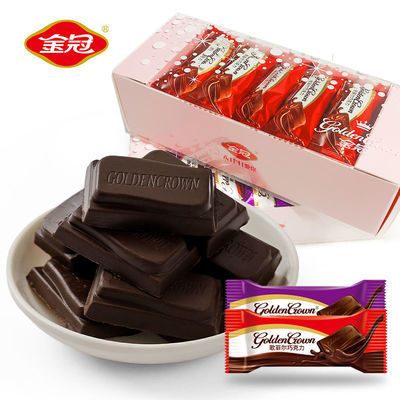 【金冠】黑巧克力块浓醇型100g/盒