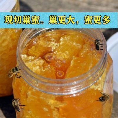蜂蜜蜂巢蜜天然农家自产自销蜂巢蜜嚼着吃的野生蜂窝蜜瓶装蜂巢蜜