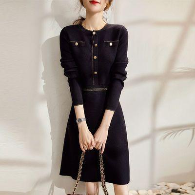 格魅2021年时尚法式设计感减龄内搭打底裙子气质修身针织连衣裙女