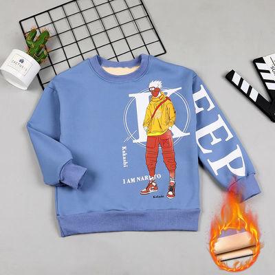 男童卫衣春秋款男孩上衣加绒保暖打底衫中大童长袖T恤童装冬装潮