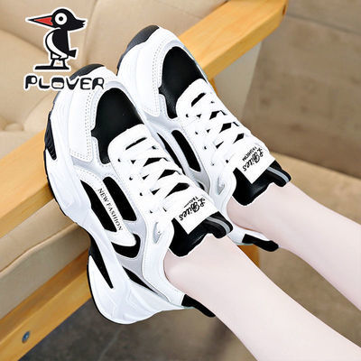 PLOVER啄木鸟2021秋季女鞋新款运动鞋学生小白鞋ins百搭老爹鞋子