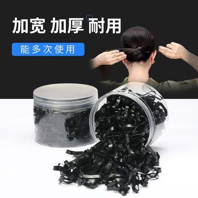 黑色一次性橡皮筋加粗高弹力耐用女扎头发的小发圈儿童不伤发胶圈