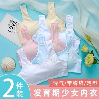 发育期少女定型内衣初中高中生女童小背心纯棉带胸垫无钢圈文胸罩