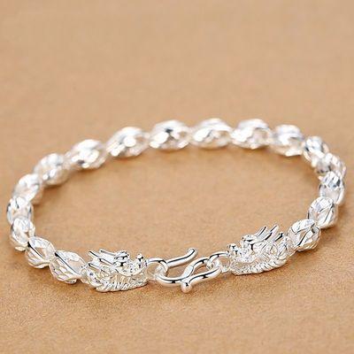 纯银手链S999925不掉色新款正品韩版女生转运珠手链简约时尚手饰
