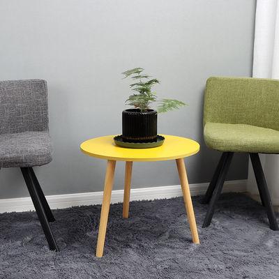 简约小茶几时尚创意家用客厅小户型阳台卧室榻榻米实木小圆桌立式