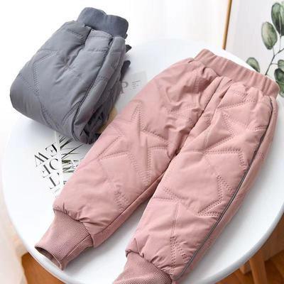 外穿兒童棉褲中小童保暖褲深冬季裝男女童長褲子加絨加厚棉夾褲