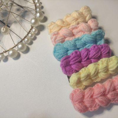 【十枚装】秋冬发卡麦穗毛线可爱儿童发夹碎发夹网红七彩发夹