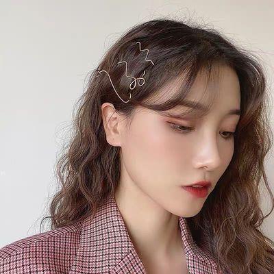简约冷淡风ins发饰韩版个性不规则发夹女网红一字夹刘海边夹卡子