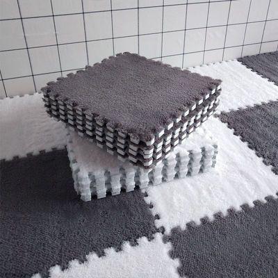 毛绒地毯卧室满铺少女床边耐脏客厅飘窗防滑可裁剪大面积拼接地垫