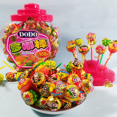 徐福记棒棒糖网红多嘟棒桶装DODO综合果味儿童糖果休闲零食批发