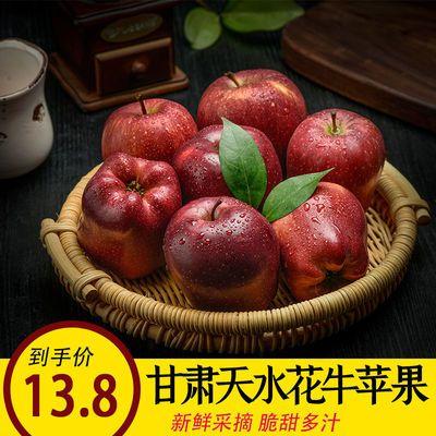 现摘花牛苹果水果蛇果新鲜粉婴儿刮泥10斤装甘肃天水当季整箱包邮