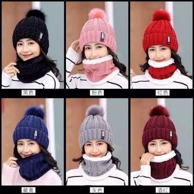 帽子女秋冬季韩版可爱百搭加绒加厚冬天骑车护耳毛线帽卡哇伊女神