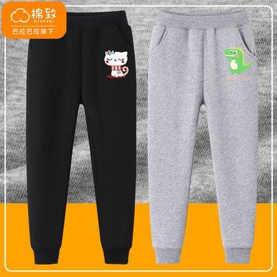 巴拉巴拉旗下棉致女童卡通卫裤2021秋装新款韩版帅气女童运动裤潮