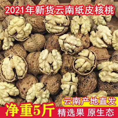 2021年新货云南纸皮核桃原味新鲜干核桃薄皮薄壳野生核桃零食批发