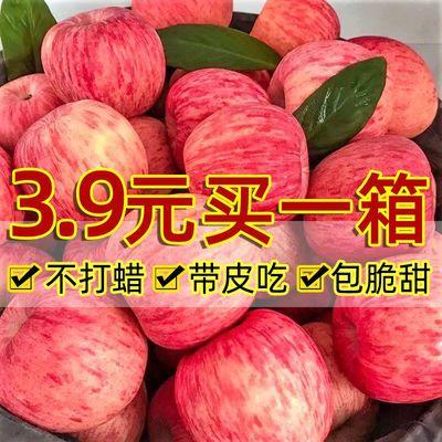 陕西正宗红富士脆甜苹果冰糖心当季应季新鲜水果2-10斤批发一整箱