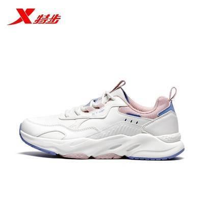 93141/特步女鞋休闲鞋2021冬季新款保暖厚底复古女鞋运动鞋979418320102