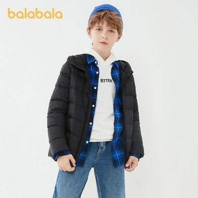 巴拉巴拉2021新款儿童男童轻薄保暖女童防钻绒便携基础款羽绒服