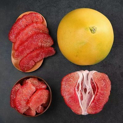 7柚子红心蜜柚红心柚红肉薄皮柚子小西红柚子红心柚子批发价