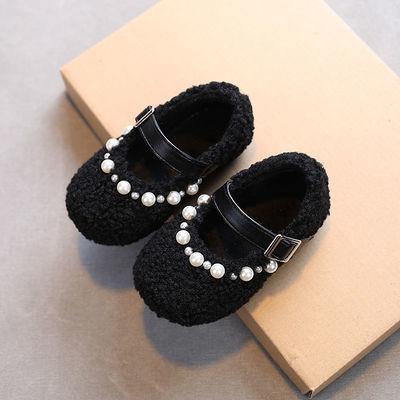 91715/女童棉鞋加绒毛毛鞋外穿冬季2021新款保暖宝宝公主洋气儿童豆豆鞋