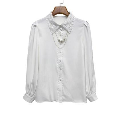 91798/白衬衫女士设计感小众2021早秋新款气质百搭衬衣洋气显瘦时尚上衣